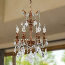"CLEARANCE  SALE Versailles 6 Light French Gold Crystal Chandelier D15""x H22 Mini"