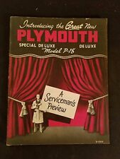"""""""Plymouth 1949"""" A Serviceman's Preview Introducing the Great New Plymouth Illus"""