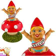Surprise! Welcome Home! Garden Gnome Novelty Funny Cheeky Toadstool Ornament