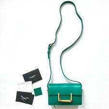 SAINT LAURENT YSL Classic Small Lulu Shoulder Flap Bag in Emerald Green Leather