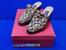 5 M Vaneli Abaka Nathair Ladies Womens Shoes Heels Wedge Miles Leopard Print 5M