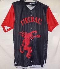 #17 Fireball Cinnamon Whiskey Mens Promo Baseball Jersey Shirt Sz M