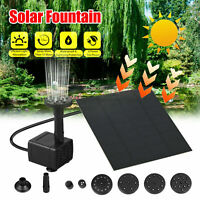 Solar Panel Powered Water Feature Plants Pump Garden Fountain Pond Pool L0H0