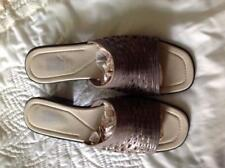 "Faded Glory Gray Leather Slip-on/Mules/Slides 1 3/4"" Heels Size 10 Medium"