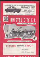 1961/62 BRISTOL CITY V BOURNEMOUTH 02-12-1961 Division 3