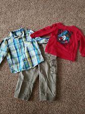 Toddler boy clothes lot size 2t, Khaki pants, Button up shirt