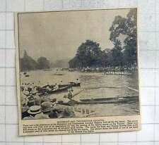 1925 Richmond And Twickenham Regatta Held Off Eel Pie Island