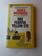 One Fearful Yellow Eye John D. MacDonald 1st Edition 1st Print McGee See Photos