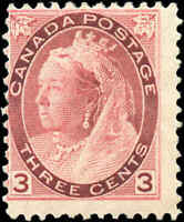 1898 Mint H Canada VG-F Scott #78 3c Queen Victoria Numeral Issue Stamp