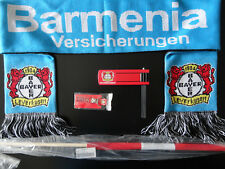 Bayer 04 Leverkusen Fan Set,Fahne,Schal,Ratsche,Schlüsselanhänger, NEU,unbenutzt