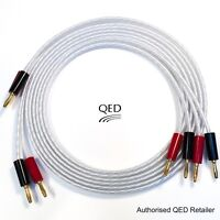 QED XT25 Performance Speaker Cable 2 x 3.0m Gold Banana Plugs Terminated 3m Pair
