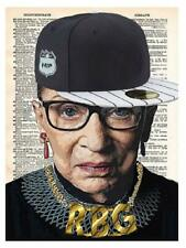 Art N Wordz RBG Ruth Bader Ginsburg Original Dictionary Pop Art Print Poster