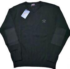 Paul&Shark Yachting Men's Black  Virgin Wool Sweater