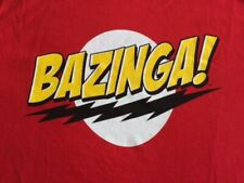 The Big Bang Theory Sheldon Cooper Bazinga Red T-shirt Licensed New