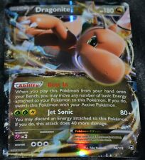 Holo Foil Dragonite EX # 74/111 XY Furious Fists Set Pokemon Trading Cards HP
