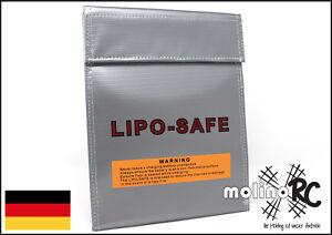 Lipo Safe Bag 18x22 cm Li-Po Schutz Charge Pack Lipo Tasche Neu & OVP Feuer