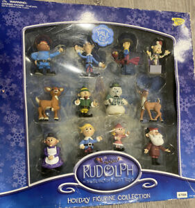 RUDOLPH and The Island of Misfit Toys 2002 by Mamory Lane: 12 Figure Set in Box