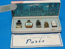 RARE 60s SET of 5 MICRO MINI LES PARFUMS DE PARIS: LUCIEN LELONG, SORTILEGE ...