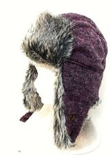 Ladies knitted thermal trapper beanie hat