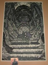 Lord of the Rings Shelob's Lair Richey Beckett Poster Print Mondo Purple Variant