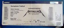Metallica  -  Sonispherer Fest.  - .rare ticket  -  Warszawa , Poland, 11.07.14