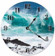 """10.5"""" BIG SEA WAVES CLOCK - Large 10.5"""" Wall Clock - Home Décor Clock - 3223"""