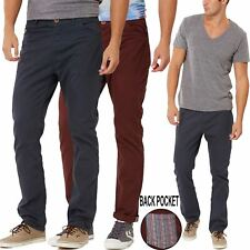 New Mens Chino Slim Fit Trousers Brave Soul Brand Heritage Vintage Fashion Pant
