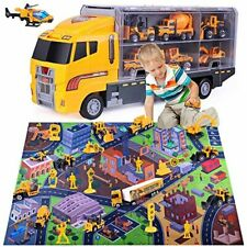 Arscniek Toys for 3 4 5 6 Years Old Boys, 24 in 1 Construction Vehicles Toys Kit
