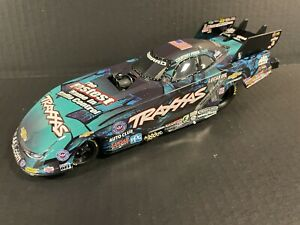 """2016 NHRA  Courtney Force  """"BLUE TRAXXAS"""" Chevy Camaro Funny Car 1/24 Scale NEW"""
