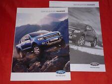 Ford Ranger XL XLT Limited Wildtrak folleto + lista de precios de 2012