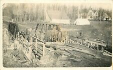 c1910 Bridge Construction Workers Occupation RPPC Real Photo