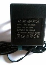 Original Genuine AC Adaptor Model MKA-091000UK 9V AC 1A