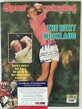 JACK NICKLAUS GARY SPORTS ILLUSTRATED AUTOGRAPH AUTO PSA DNA CERTIFIED AUTHENTIC