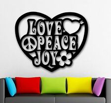 Wall Stickers Vinyl Decal Love Joy Peace Pacifism Hippie (ig1768)