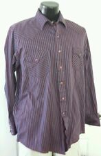 Karman Striped Western Shirt Long Sleeve Pearl Snap XL Retro Rare Vintage 90s