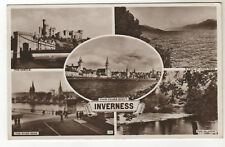 Inverness - Multiview  Real Photo Postcard 1954