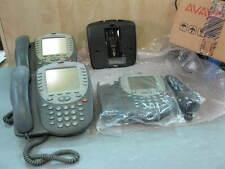 LOT OF 3 Avaya 4620 IP Phone 700212186 w/Handset and Base