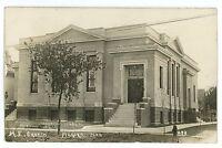 RPPC Methodist Church AURORA NE Vintage Nebraska Real Photo Postcard