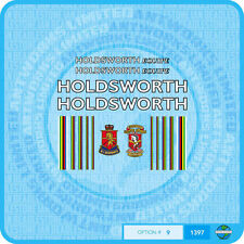 Holdsworth Equipe - Bicycle Decals Transfers Stickers - White / Black - Set 9