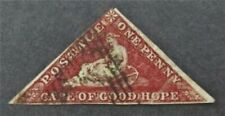 nystamps British Cape Of Good Hope Stamp # 12 Used $275