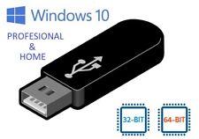 Instalacion Windows 10 Professional / Home 32/64bits PenDrive (USB) 32Gb nuevo