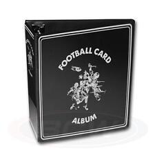 "1 BCW 3"" Black Football Card Storage D-Ring Album Binder Book Display Protect"