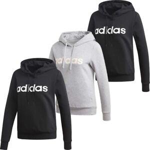 Adidas Womens Hoodie Sweatshirt Essential Linear Pullover Hoody Fleece Top