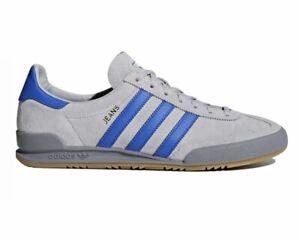 Adidas Originals Jeans CQ2769 Men's Suede Trainers Grey Blue Sneakers