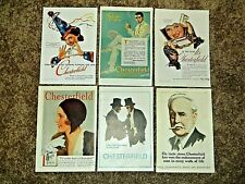 Collection of Original Vintage Chesterfield Cigarette Ads