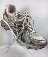 Asics Women's 7.5 Pink Metallic Tennis Shoes IGS Gel-Kinetic Running Lace Up