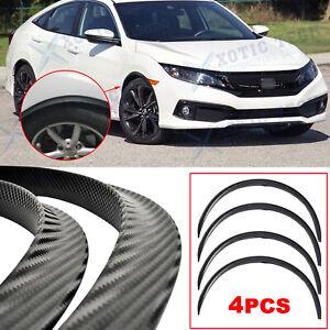For Honda Civic Carbon Fiber Wheel Eyebrow Strip Arch Protector Fender Trim Lips
