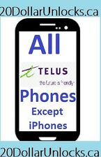 Telus & Koodo Unlock Code for Samsung Galaxy S6 LG G3 Sony BlackBerry etc ALL!