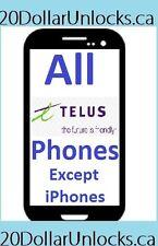 Telus & Koodo Unlock Code for Samsung Galaxy S6 LG G3 Sony BlackBerry etc ALL!