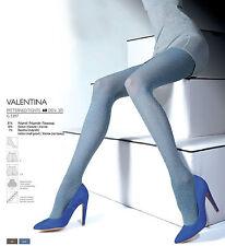 Fiore Valentina 3D Muster Strumpfhose Unifarben Microfibre Jeans 60den S-L 36-46